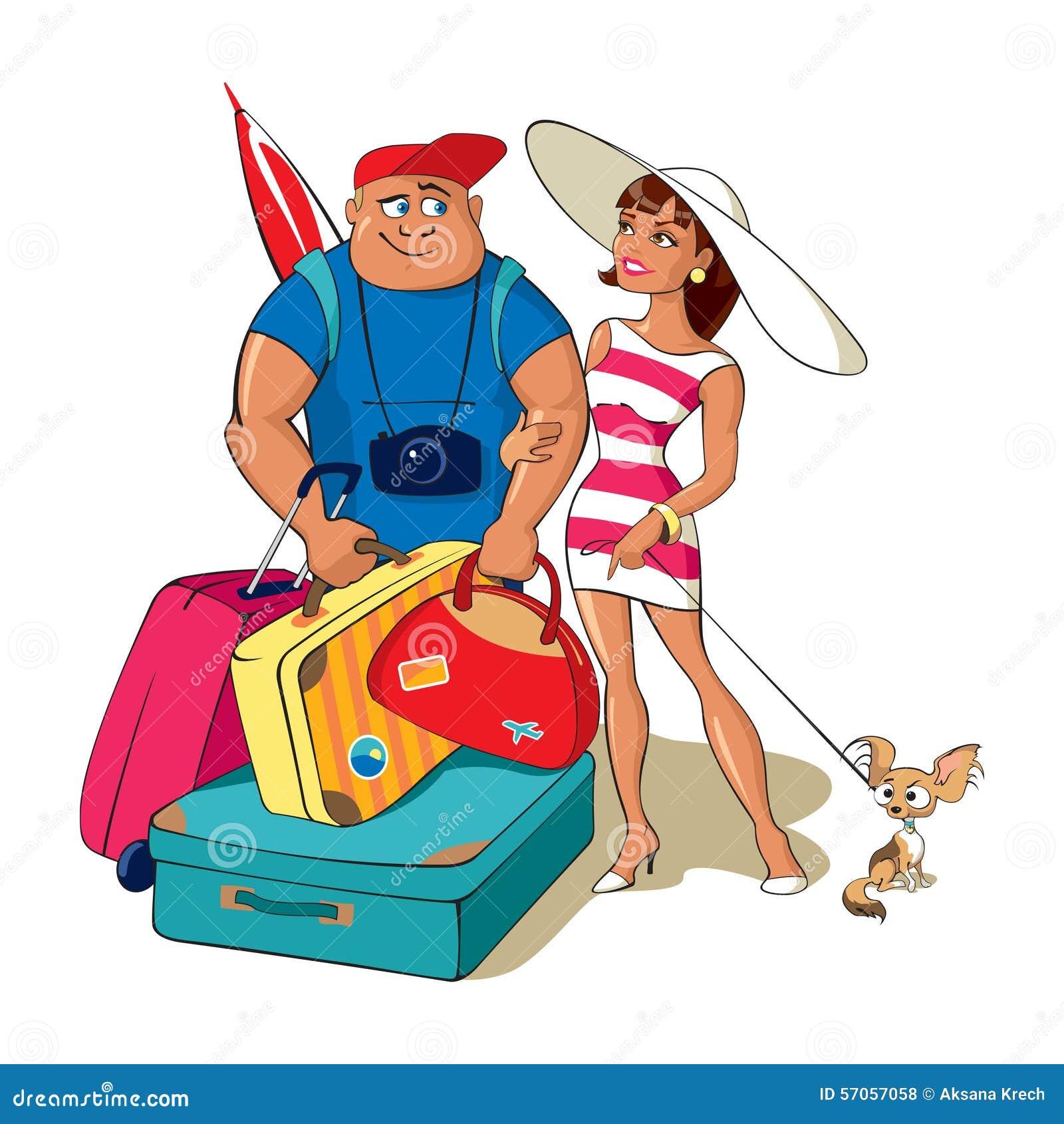 Het familiepaar gaat op een reis
