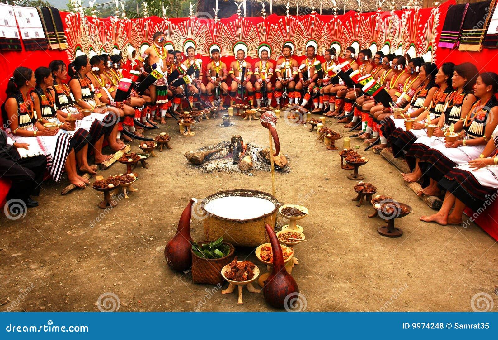 Het Festival van Hornbill van nagaland-India.