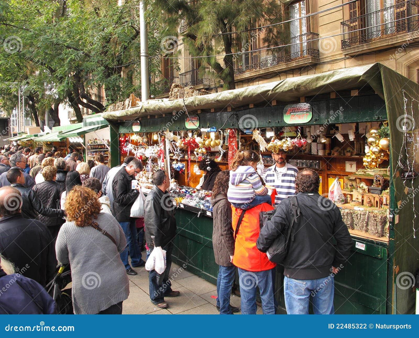 Het Festival van Llucia van de kerstman, Barcelona