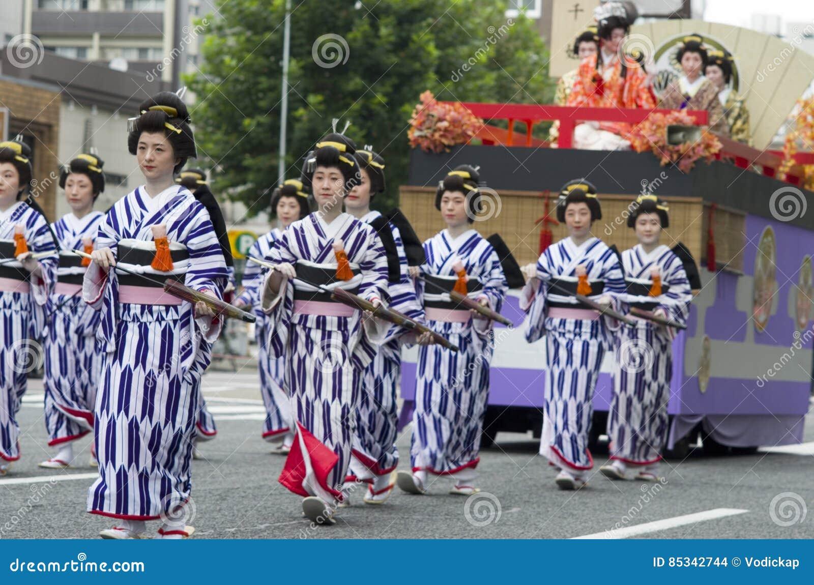 Het Festivalparade van Nagoya, Japan