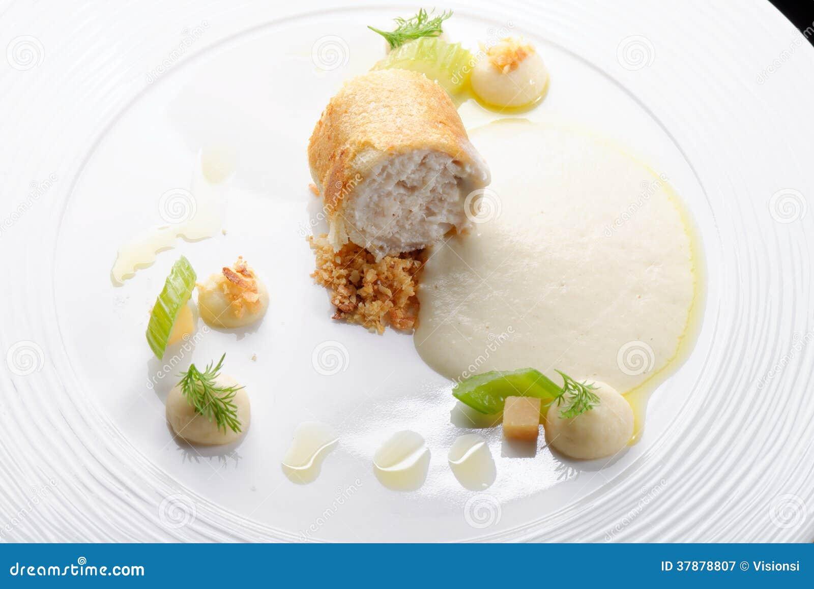 Het fijne dineren, Forelvisfilet gepaneerd in kruiden en kruid