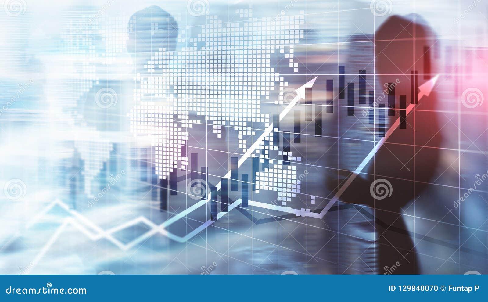 Het financiële van de de Kaarsgrafiek van Effectenbeursgrafieken Concept van ROI Return On Investment Business