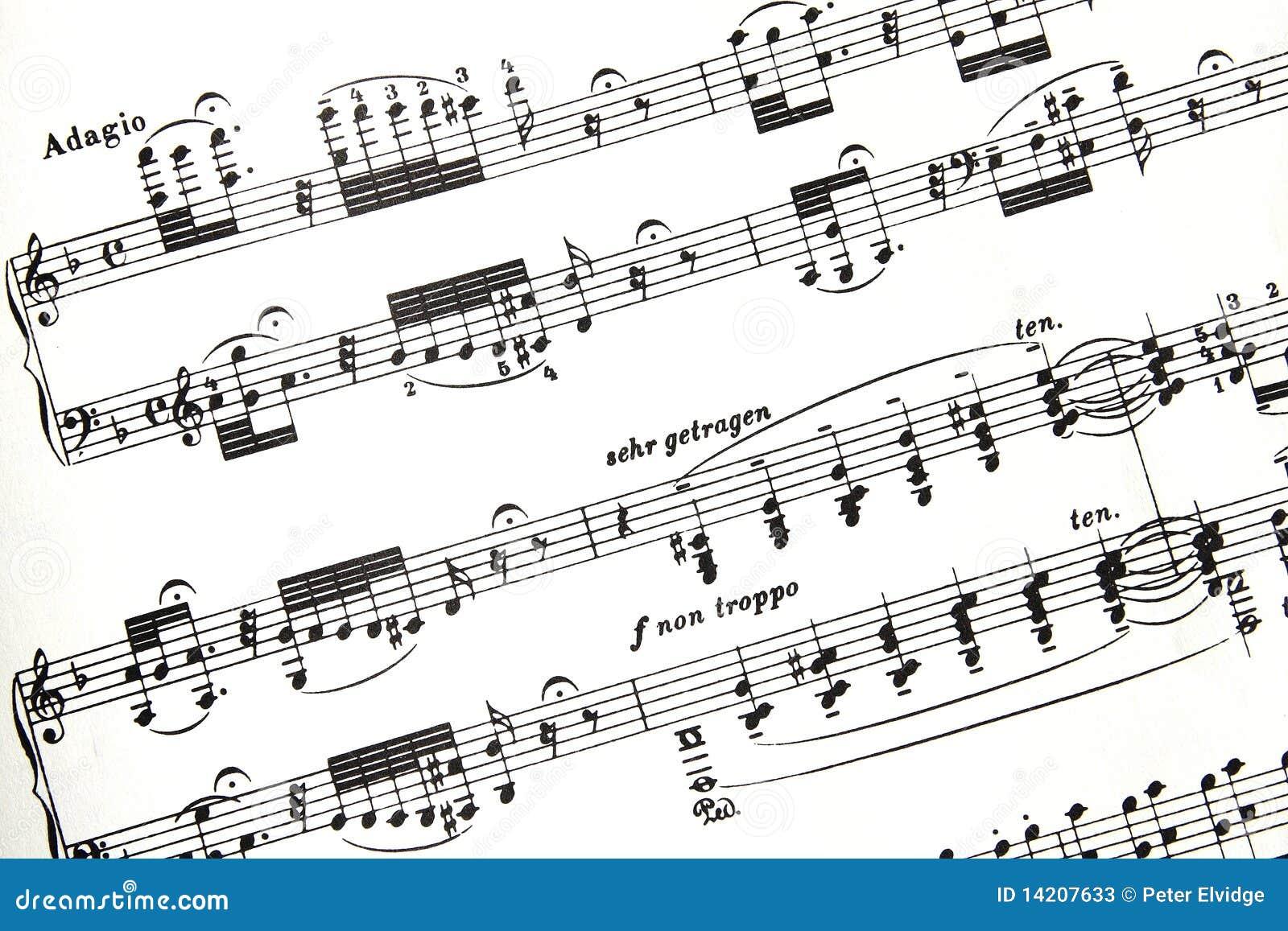 Het Fragment van de Score van Bach