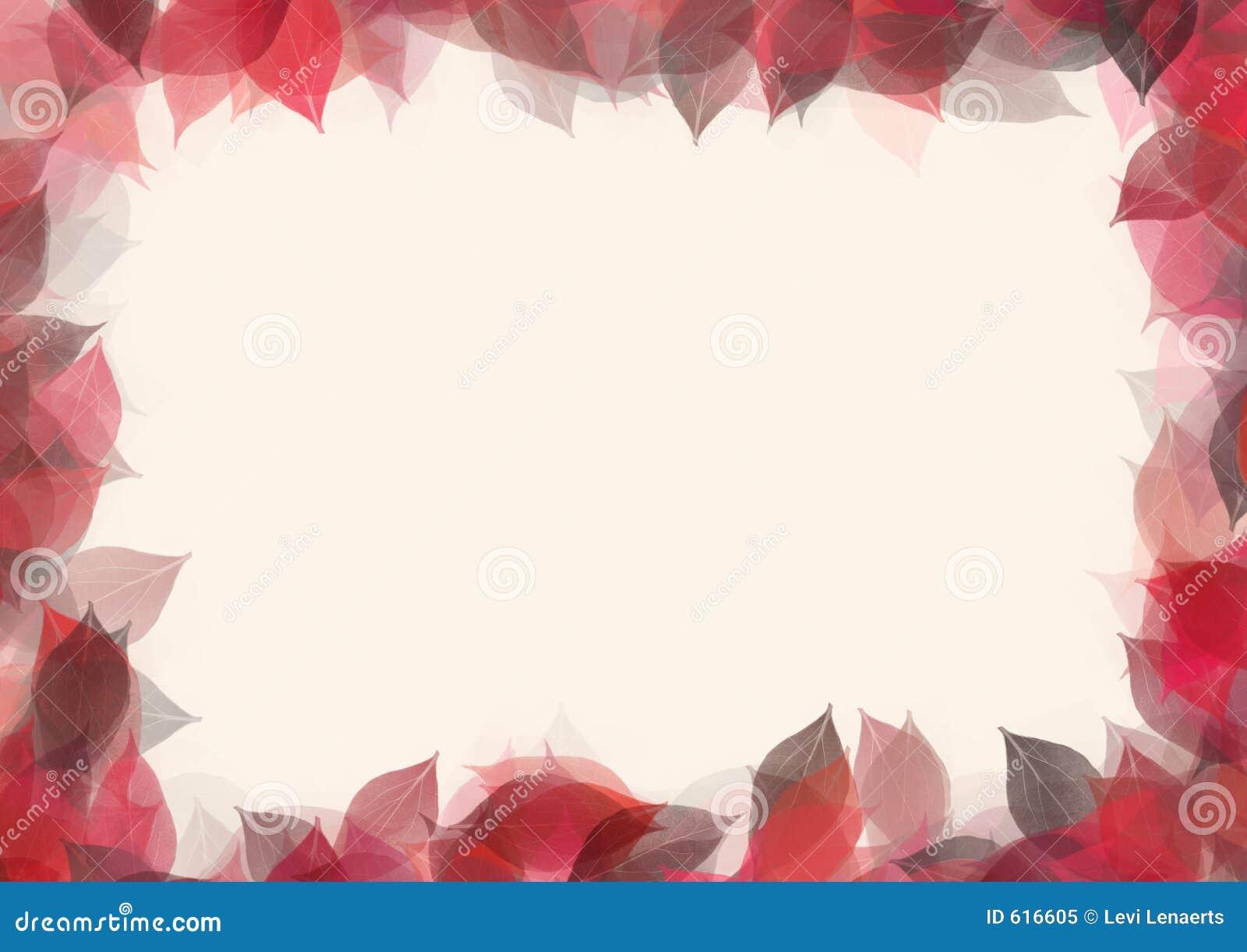 Het frame van bladeren
