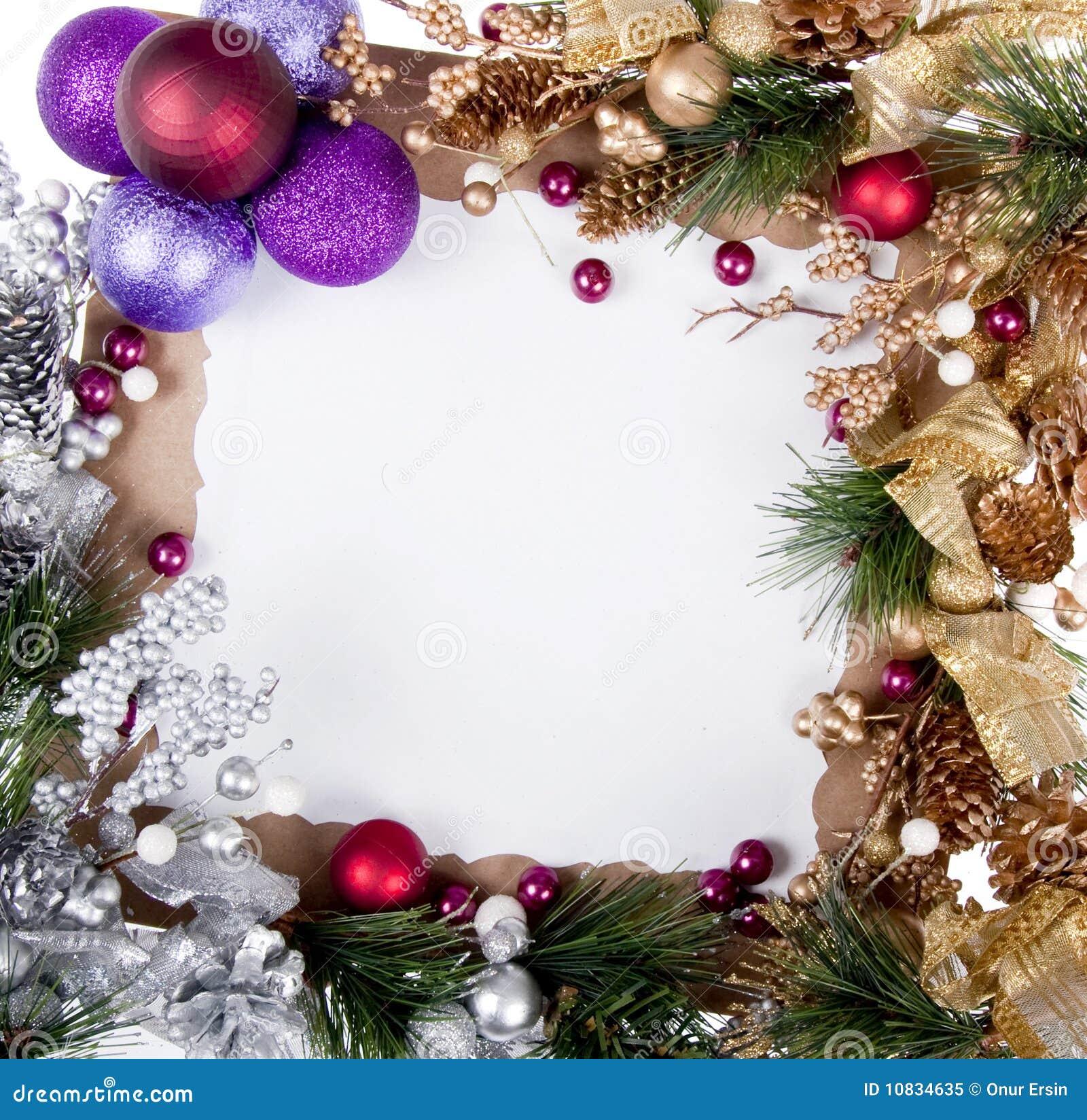 Het Frame Van De Kerstkaart Stock Afbeelding - Afbeelding bestaande ...