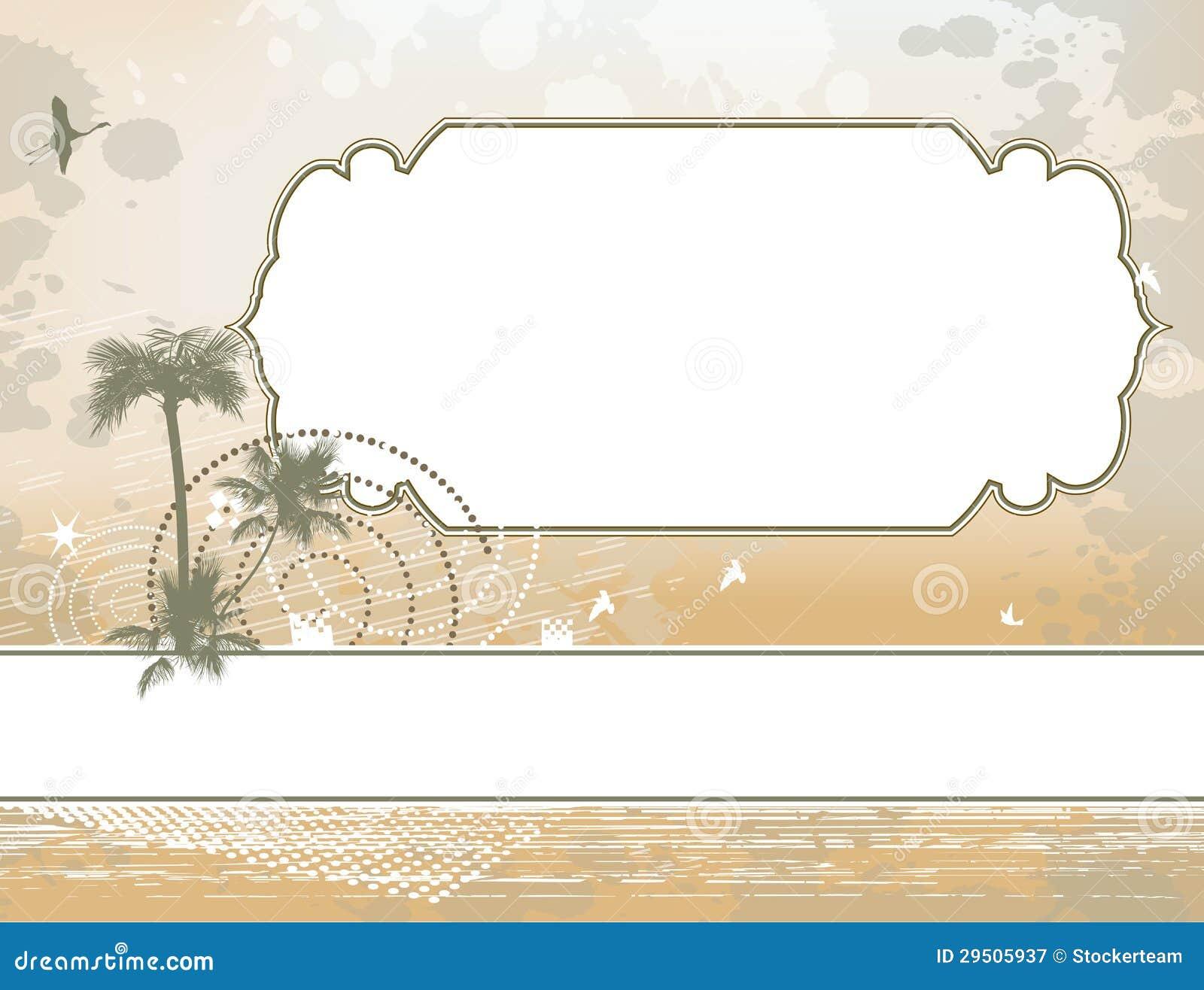 Het frame van de palm en shadoof achtergrond