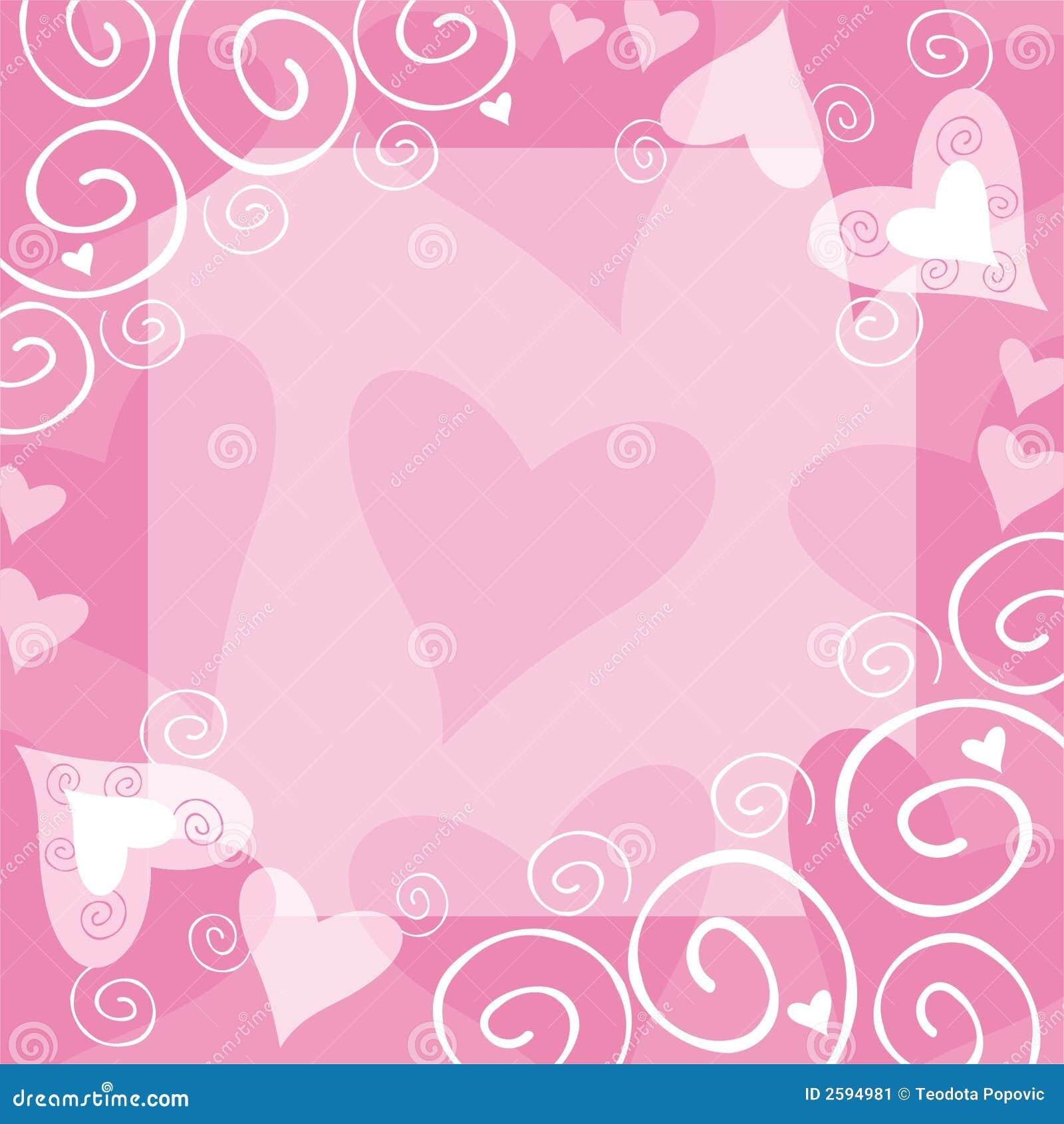 Het frame van de valentijnskaart