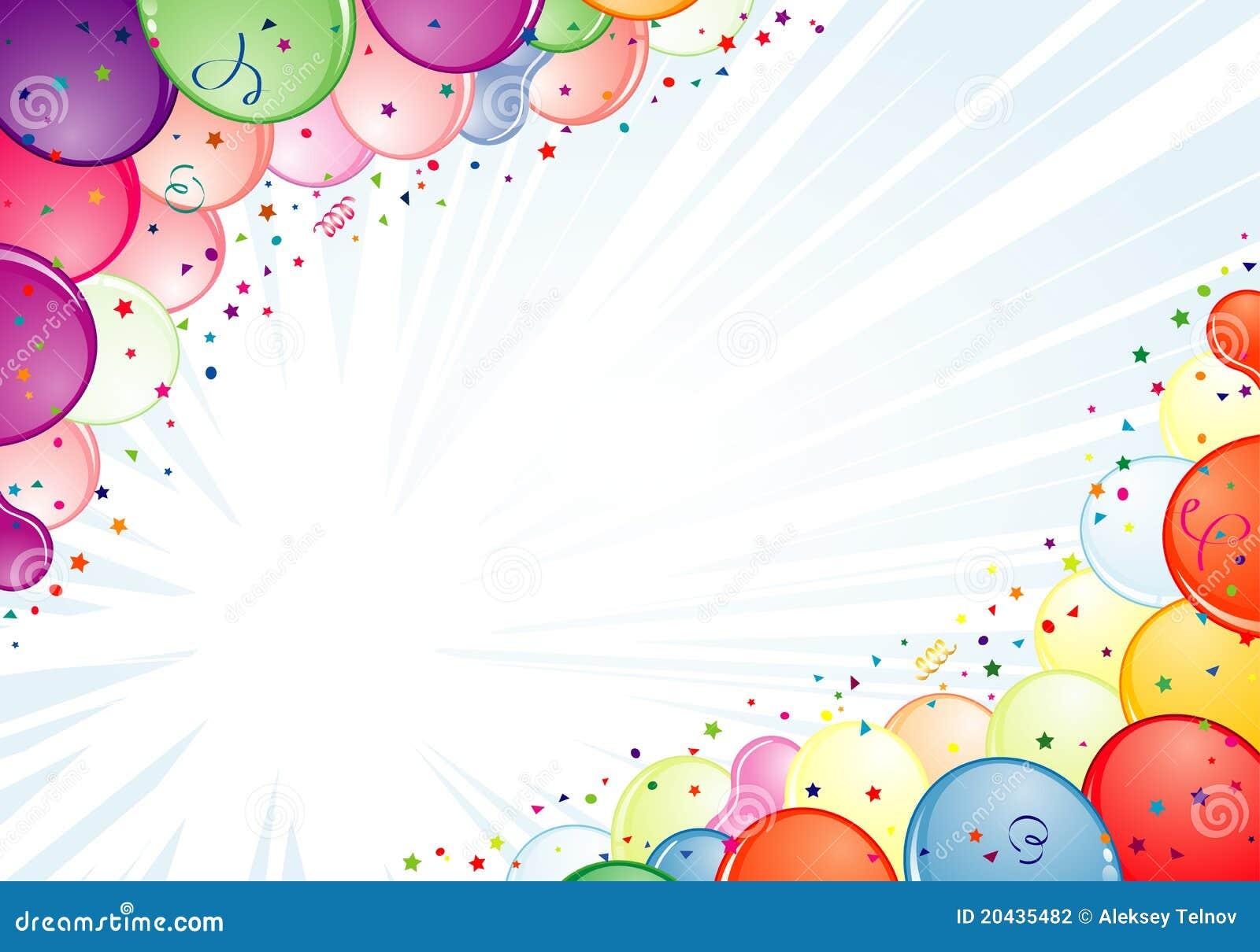 Het Frame Van De Verjaardag Vector Illustratie Illustratie