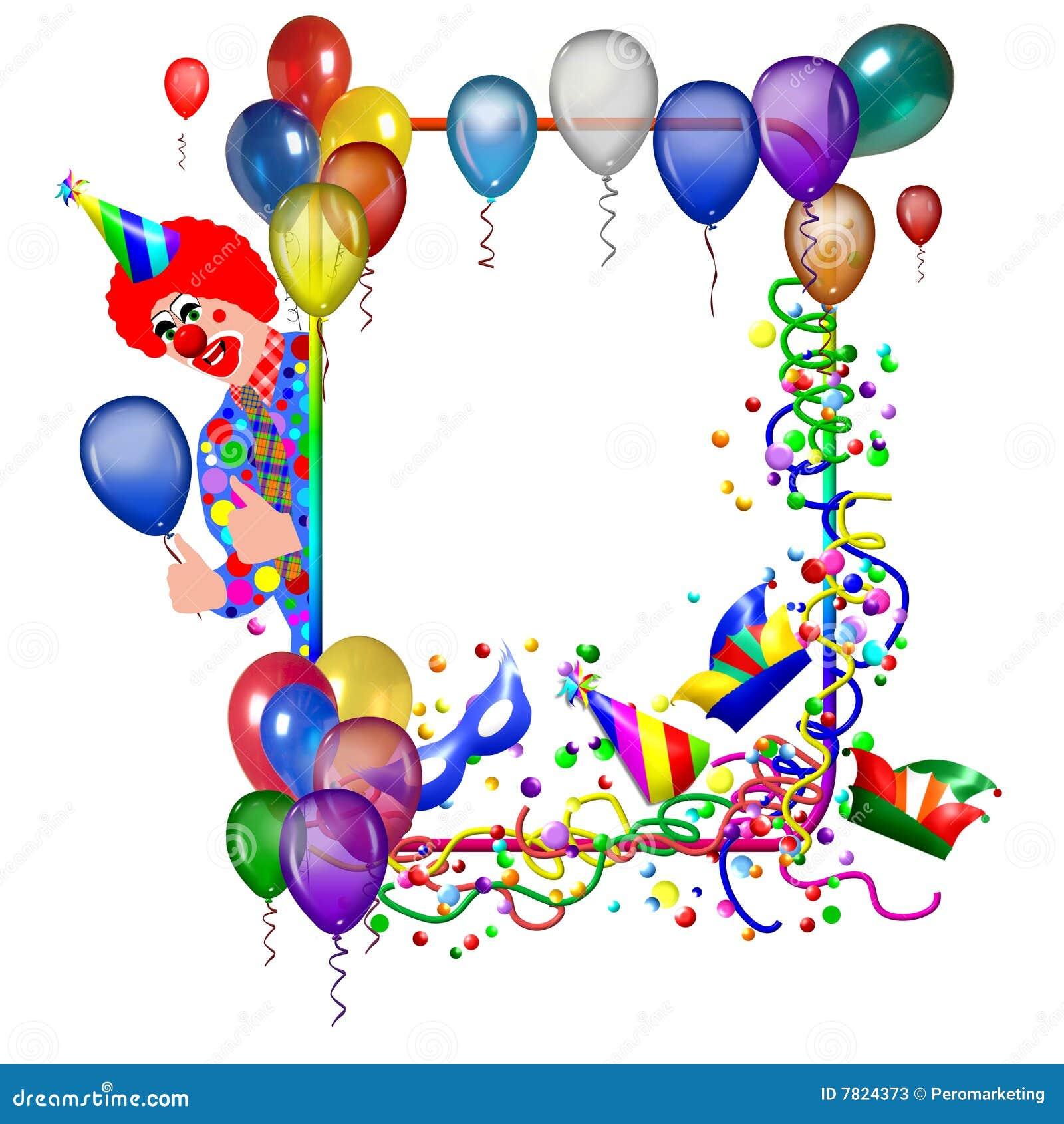 Het Frame Van De Verjaardag Stock Illustratie Illustratie