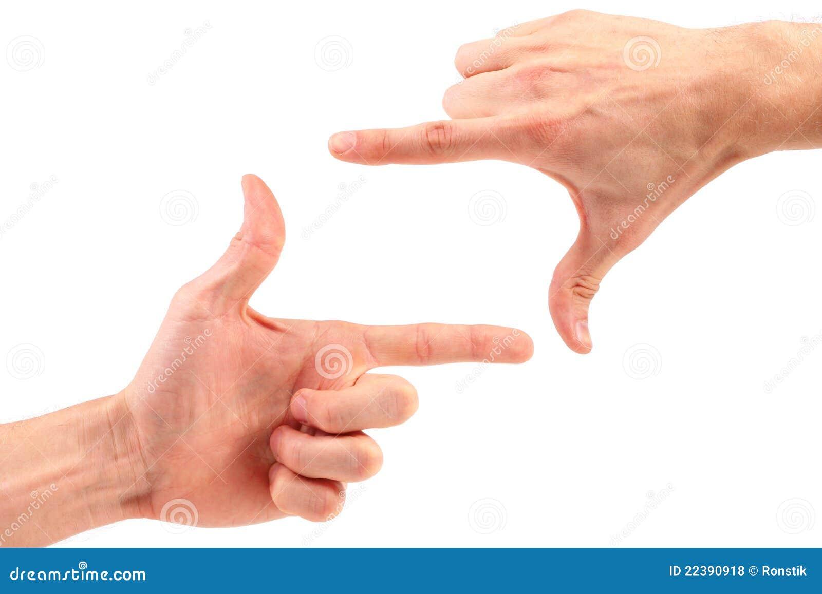 Het frame van de vinger