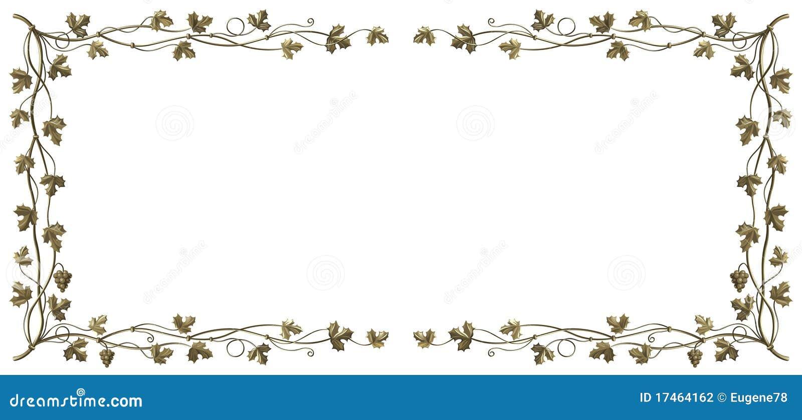 Het frame van de wijnstok