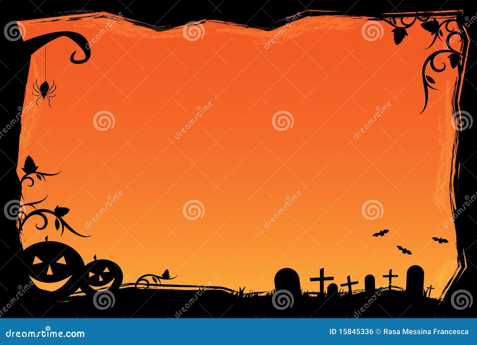 Het frame van Halloween van Grunge