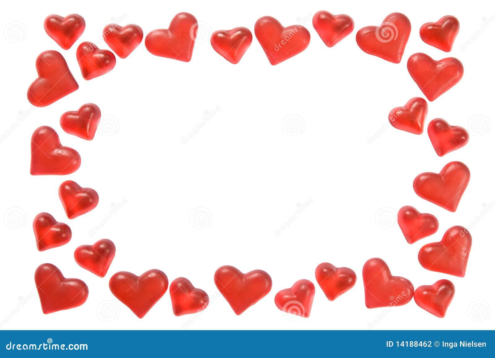 Het frame van harten