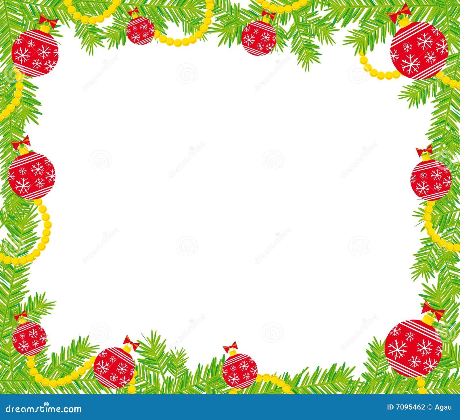 Het frame van Kerstmis vector illustratie. Afbeelding ...