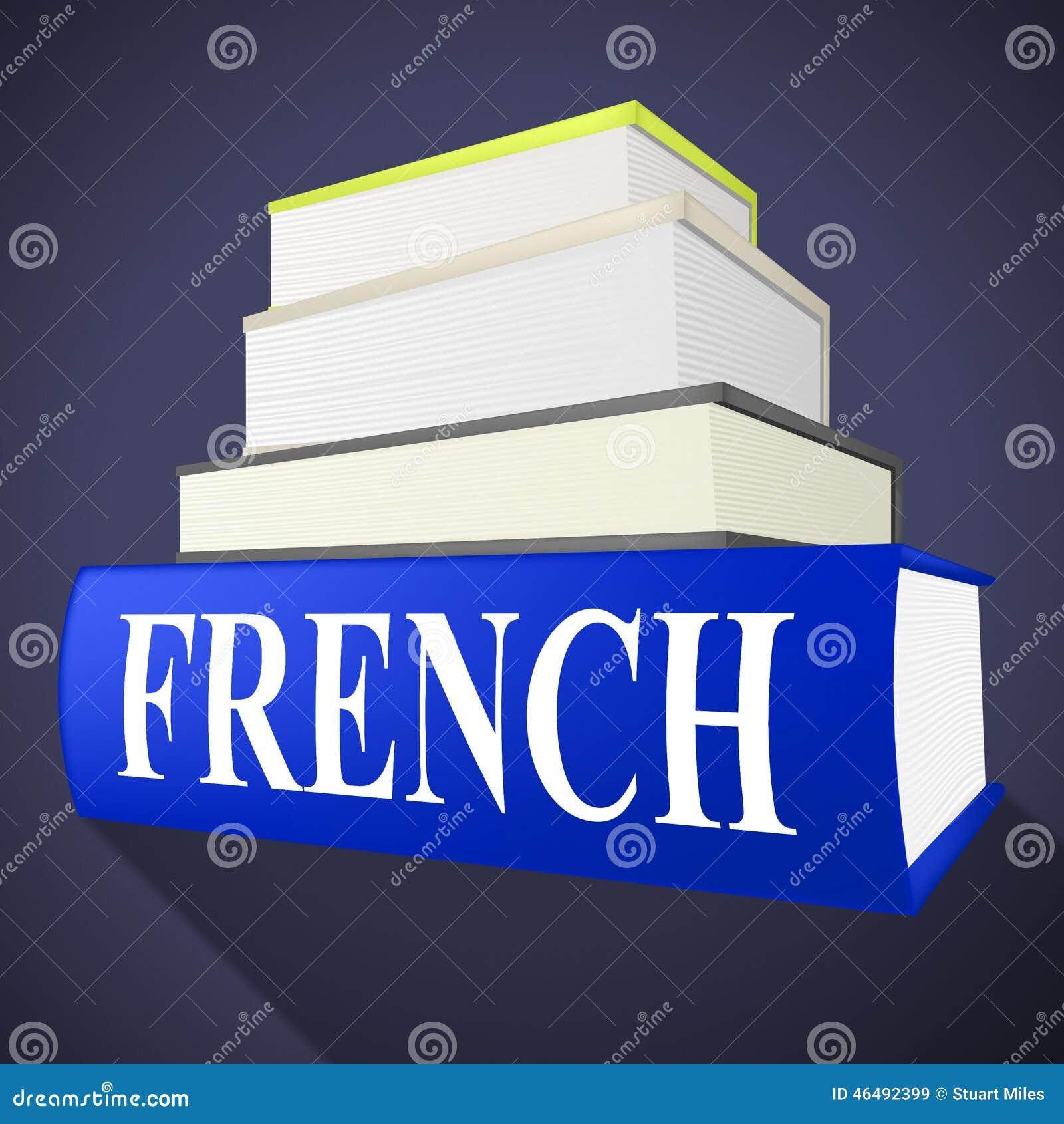 Het Franse Boek Wijst Op Aan Engels En Euro Vertaal Stock ...