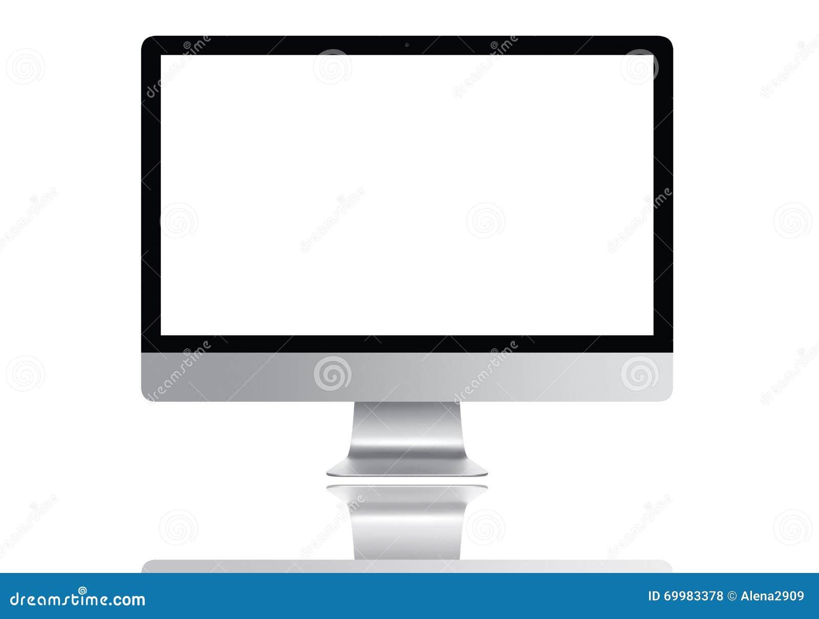Het frontale MAC-computerscherm