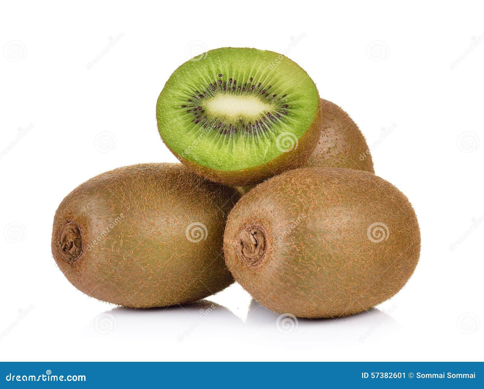 Het fruit van de kiwi op witte achtergrond