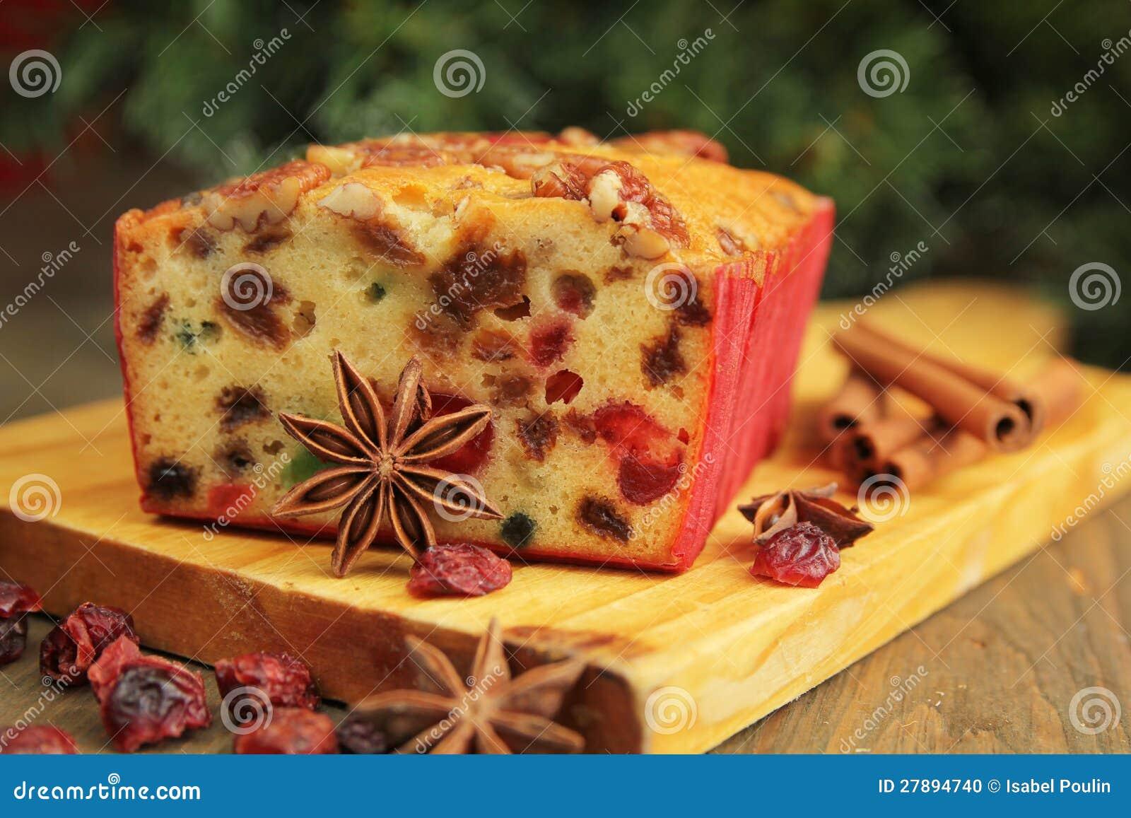 Het fruitcake van Kerstmis