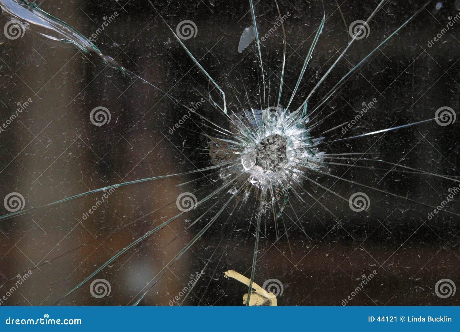 Het Gat van de kogel in Glas