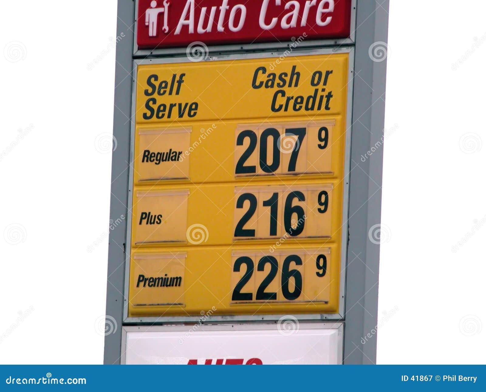 Het geïsoleerden teken van de gasprijs