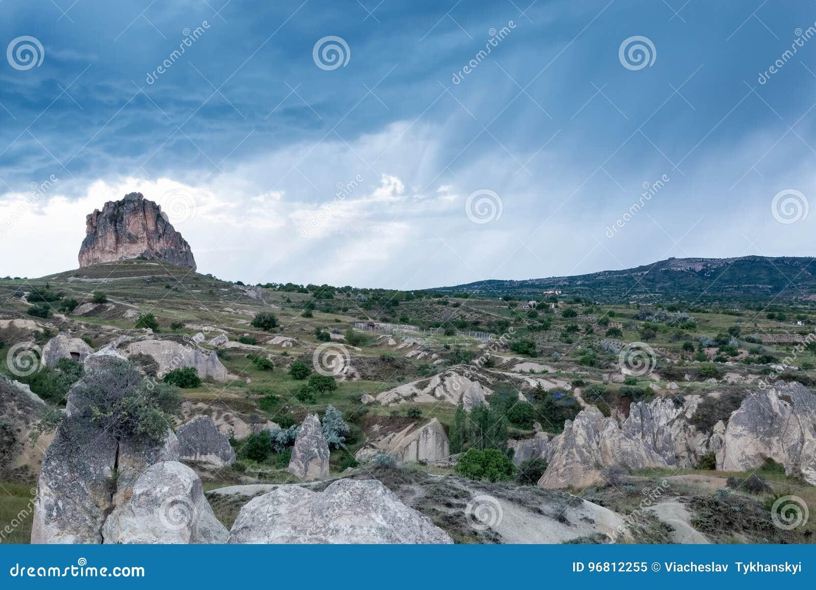 Het gebied van de Cappadociarots van Turkije