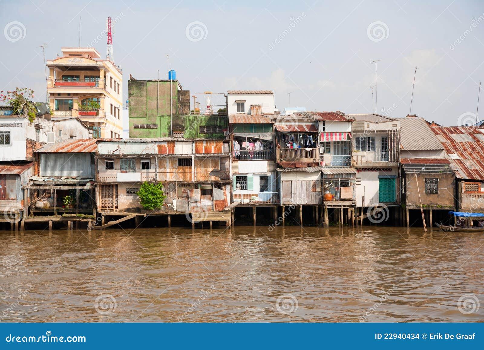 Het gebied van de krottenwijk