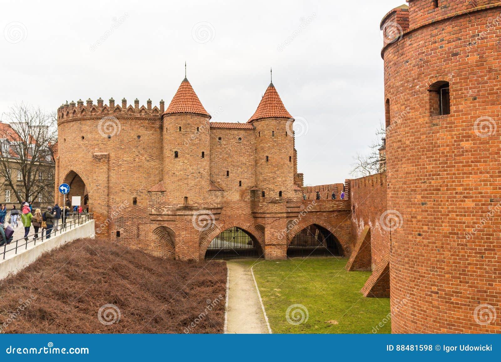 Het gebied van de Oude Stad in Warshau, Polen