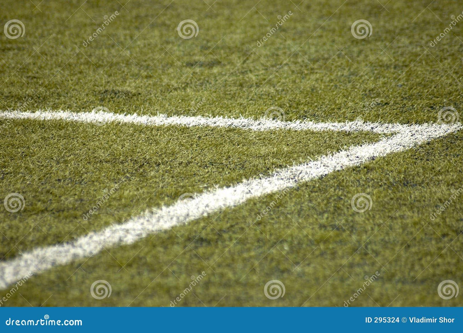 Het gebied van de voetbal