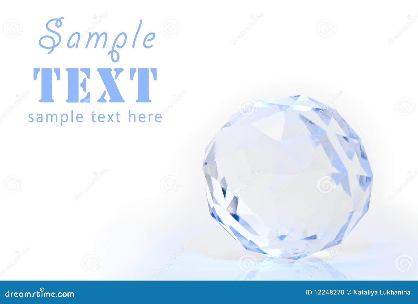 Het gebied van het kristal met een facet