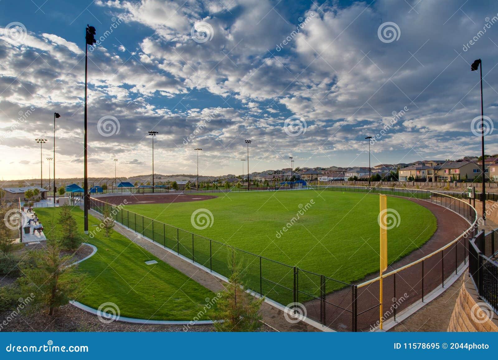 Het gebied van het softball