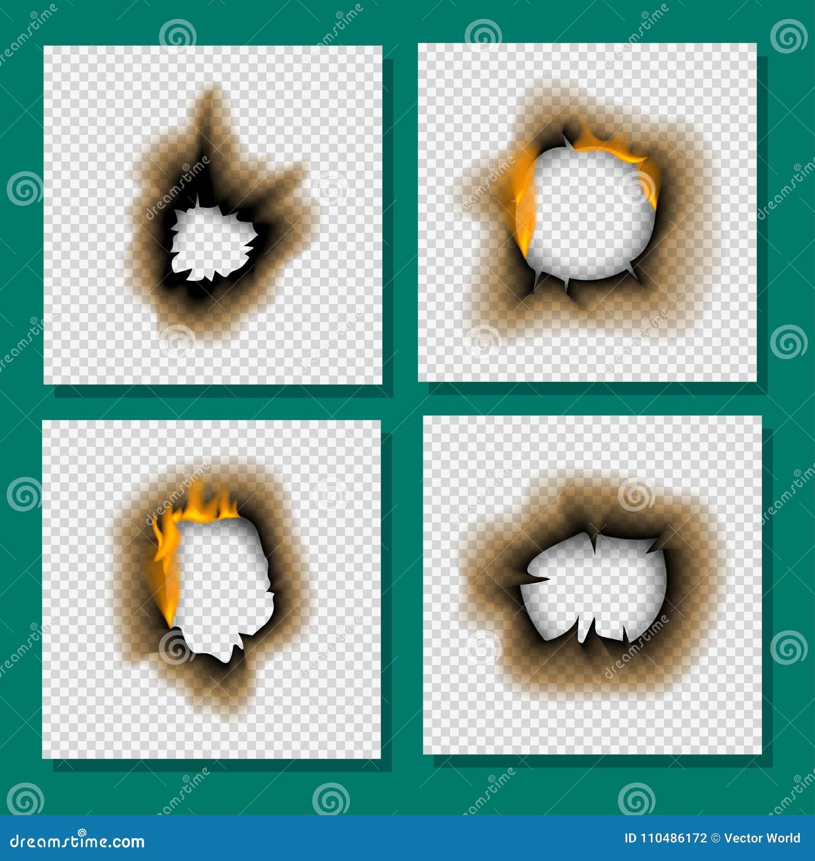 Het gebrande stuk brandde de langzaam verdwenen document van de de paginablad gescheurde as van de gaten realistische brand vlam