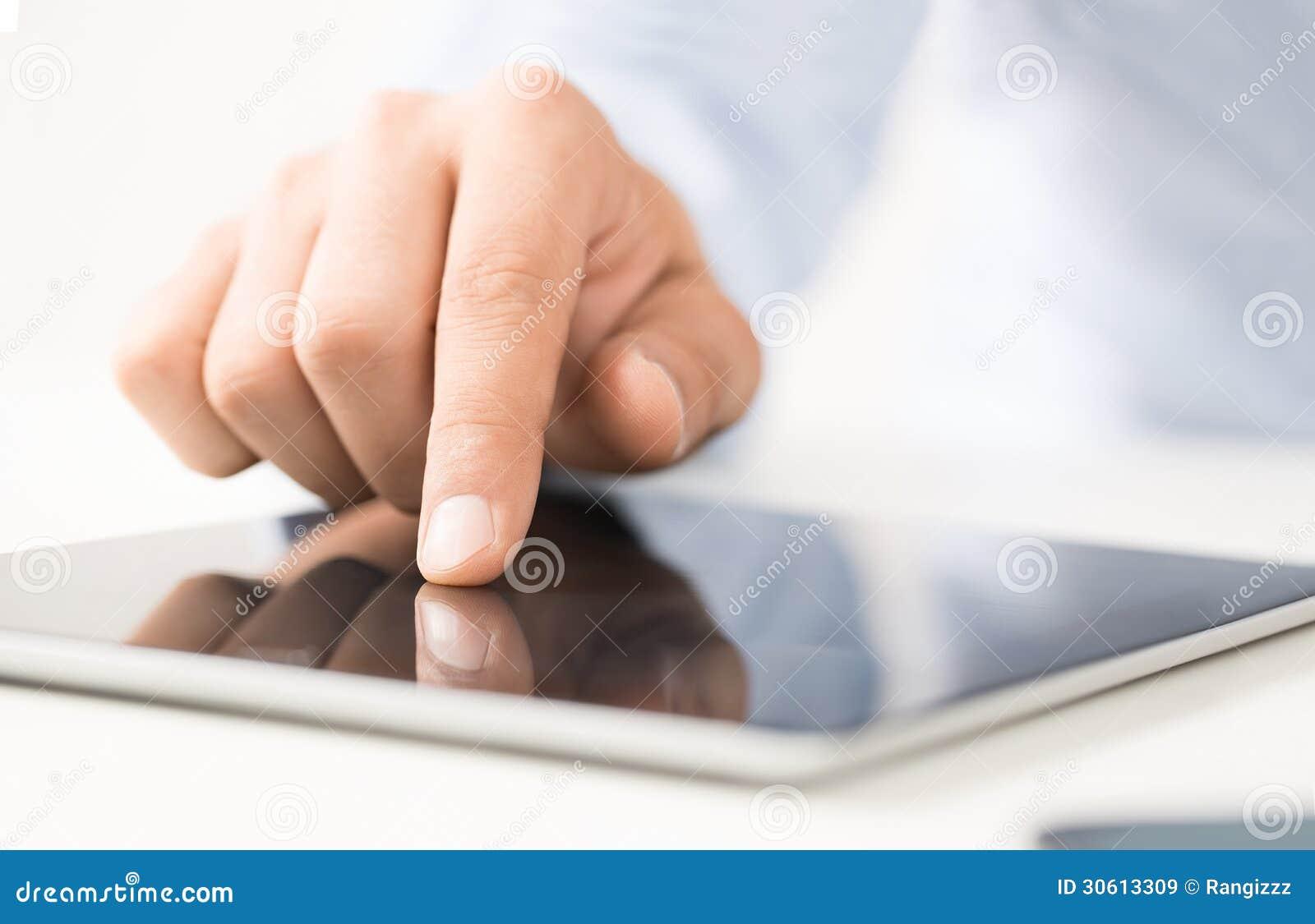Het gebruiken van digitale tablet