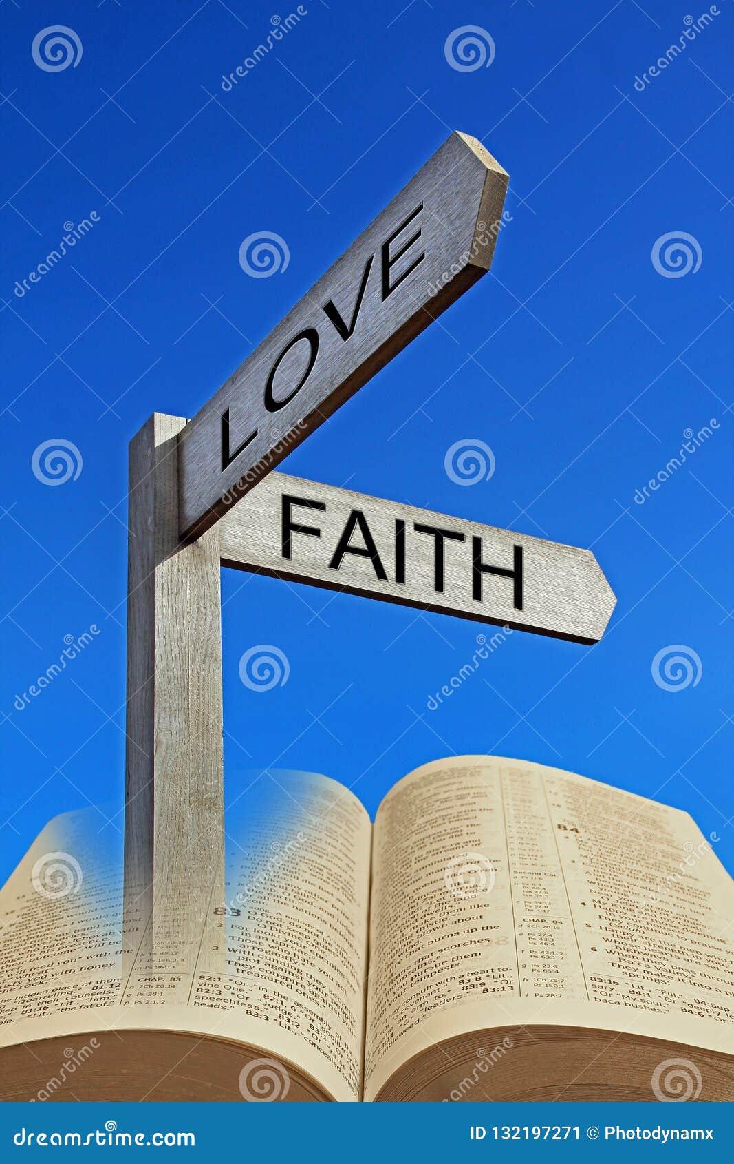 Het geestelijke van het de weg goddelijke geloof van de bijbelrichting open heilige boek
