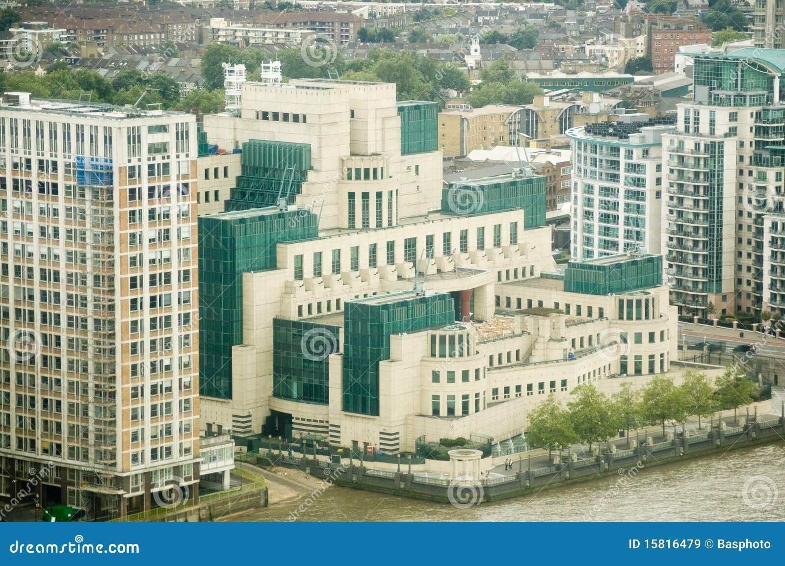 Google Hoofdkwartier Londen : Het geheime hoofdkwartier van de dienst londen stock afbeelding
