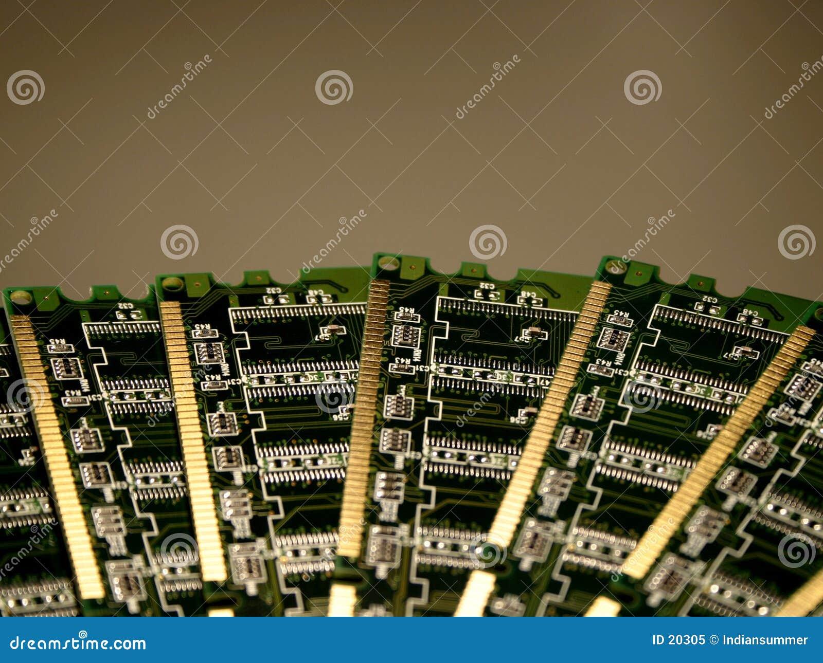 Het geheugenmodules IV van de computer