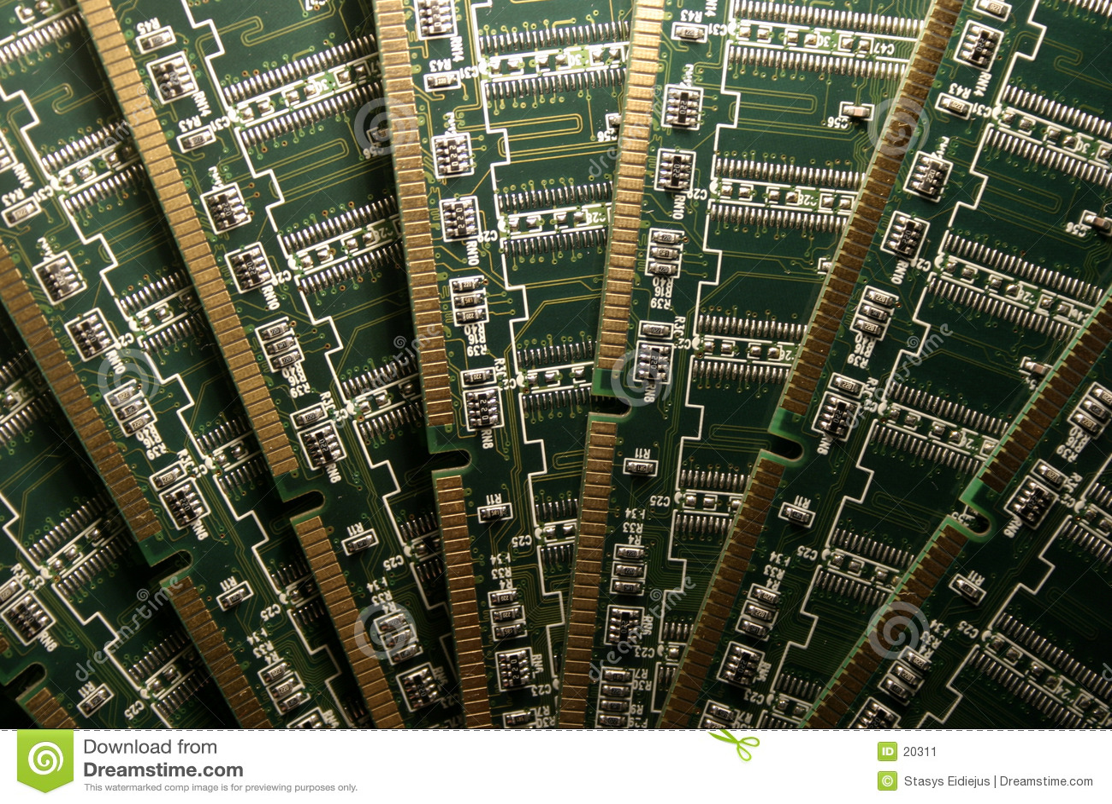 Het geheugenmodules V van de computer