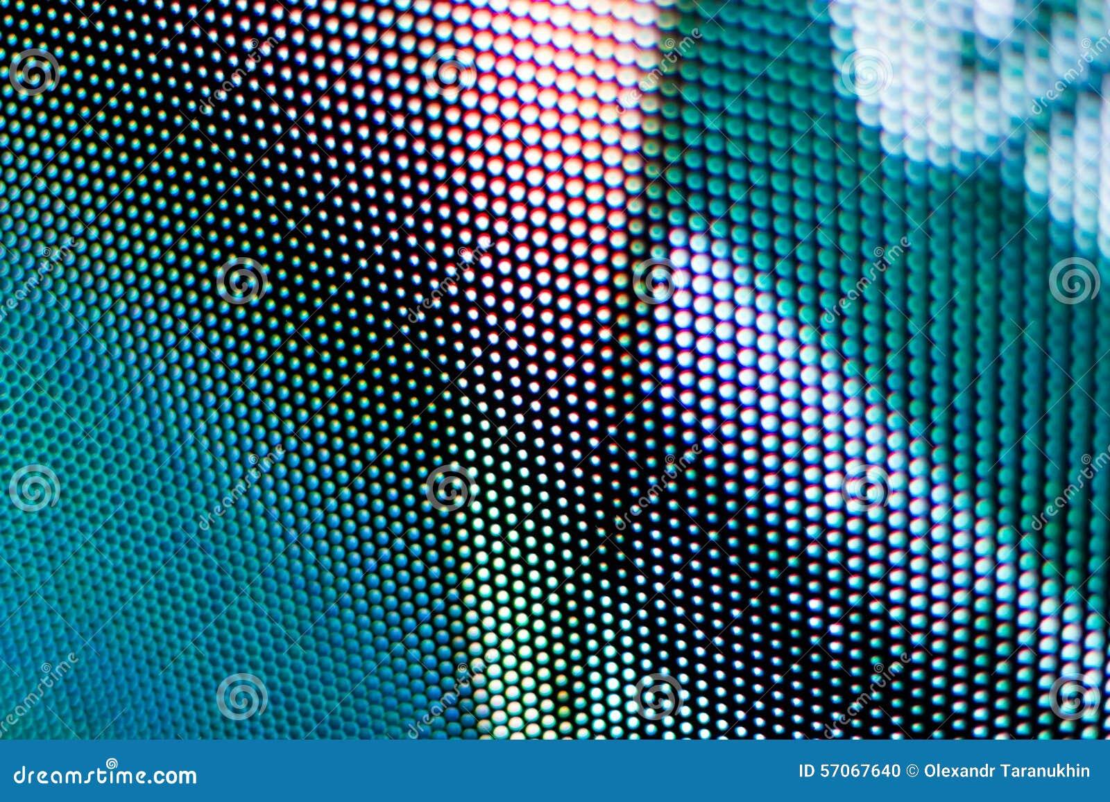 Het gekleurde blauw en het wit blured het Geleide scherm