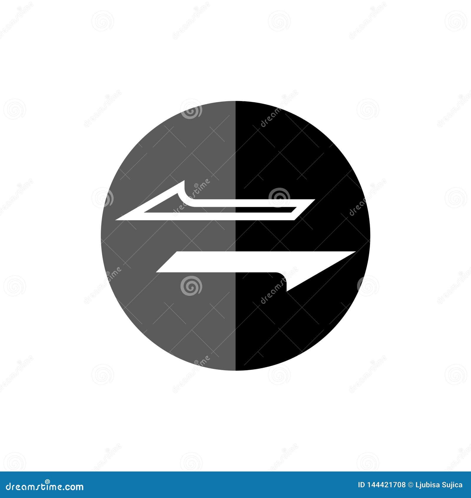 Het geld zet pictogram of teken om