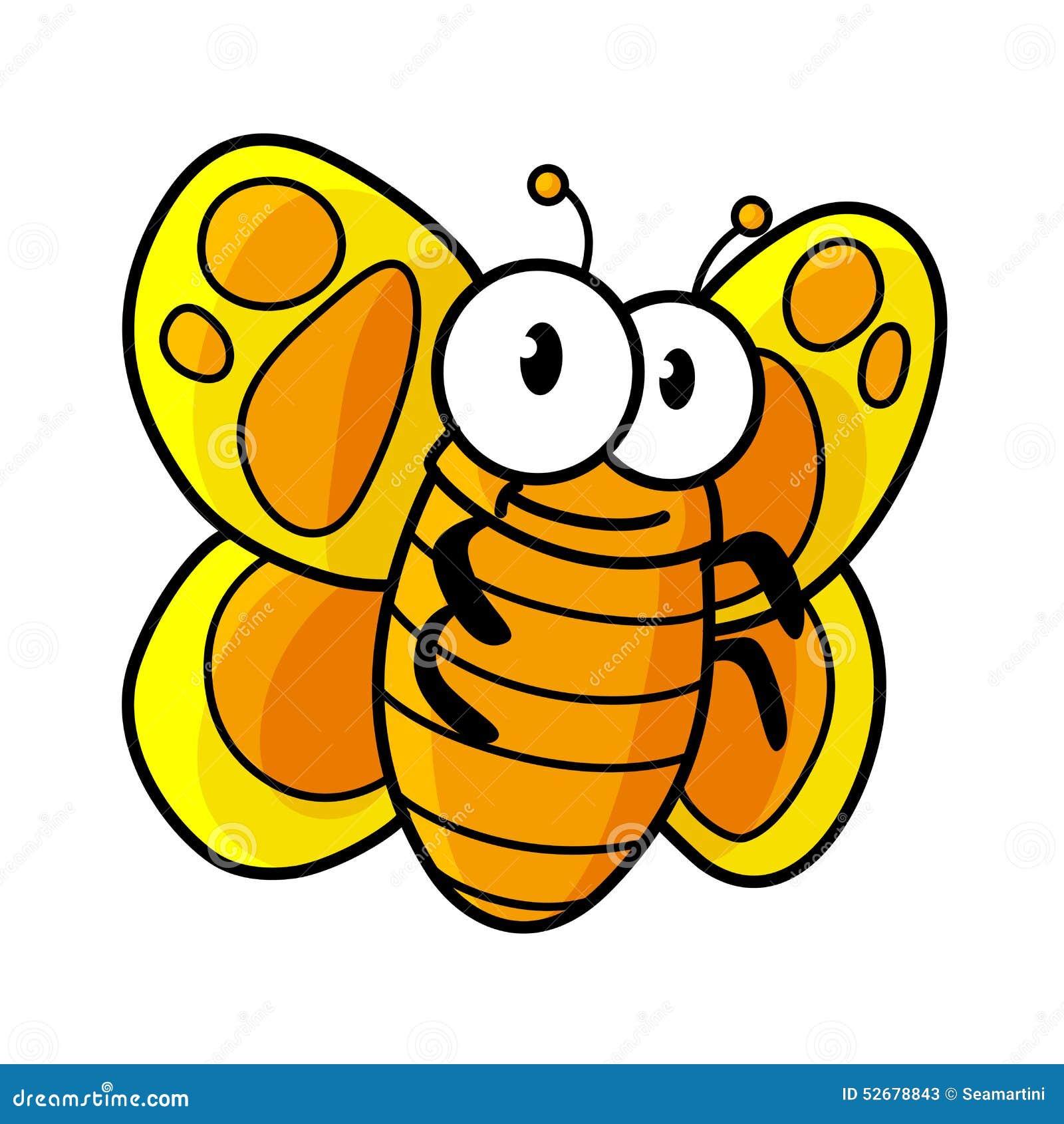 Het gele bevlekte karakter van het vlinderbeeldverhaal