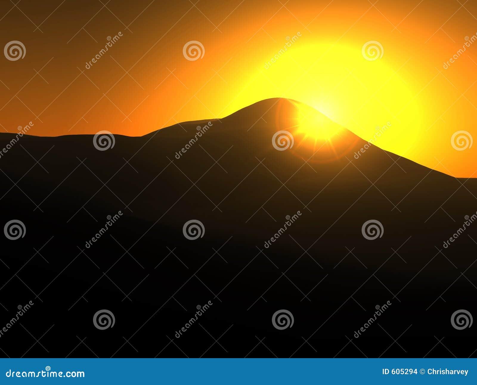 Het gele Landschap van de Zon