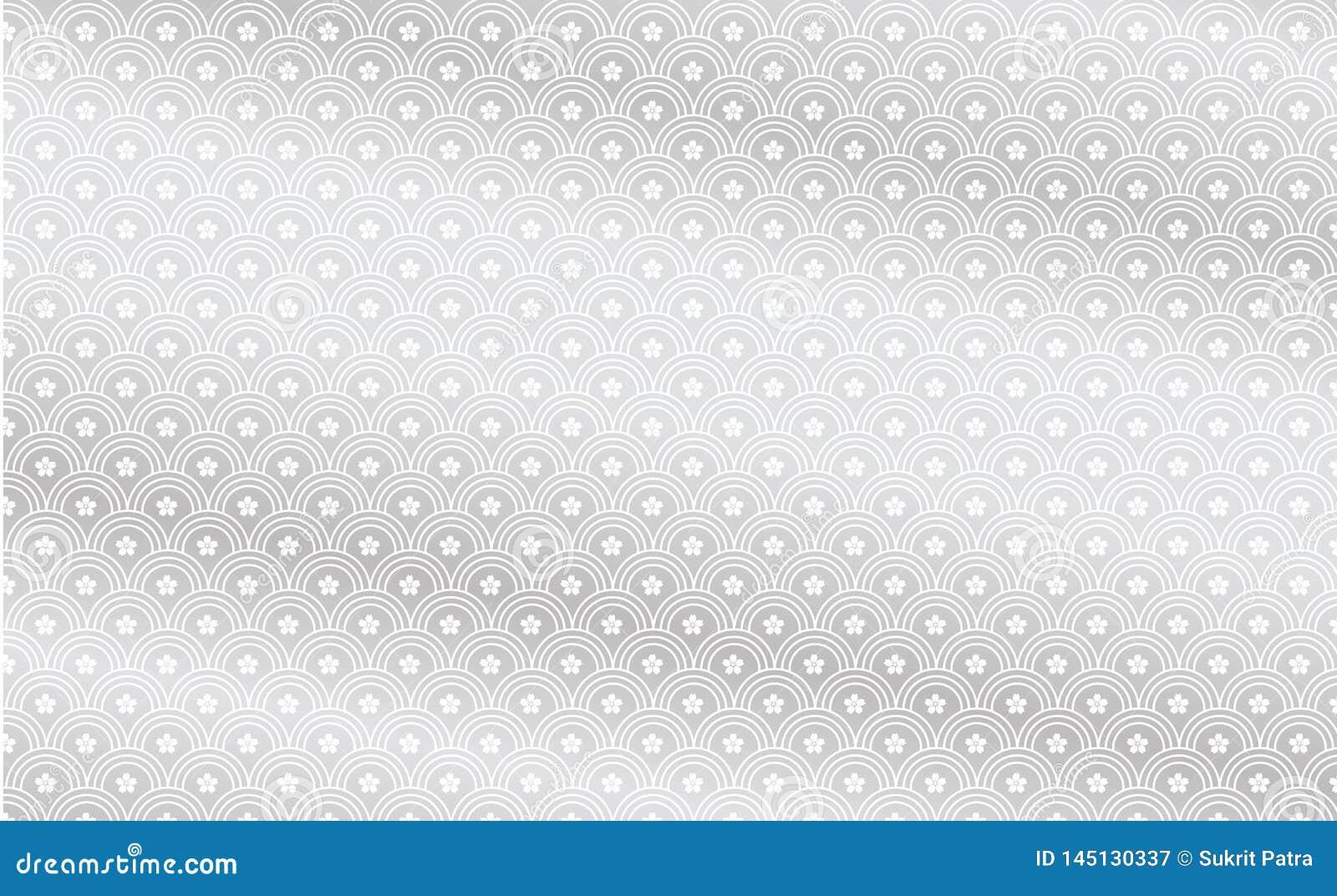 Het gelijkaardige patroon als achtergrond, vissenschalen is grijs en heeft weerspiegelende fFishschalen is grijs, wit en heeft bl