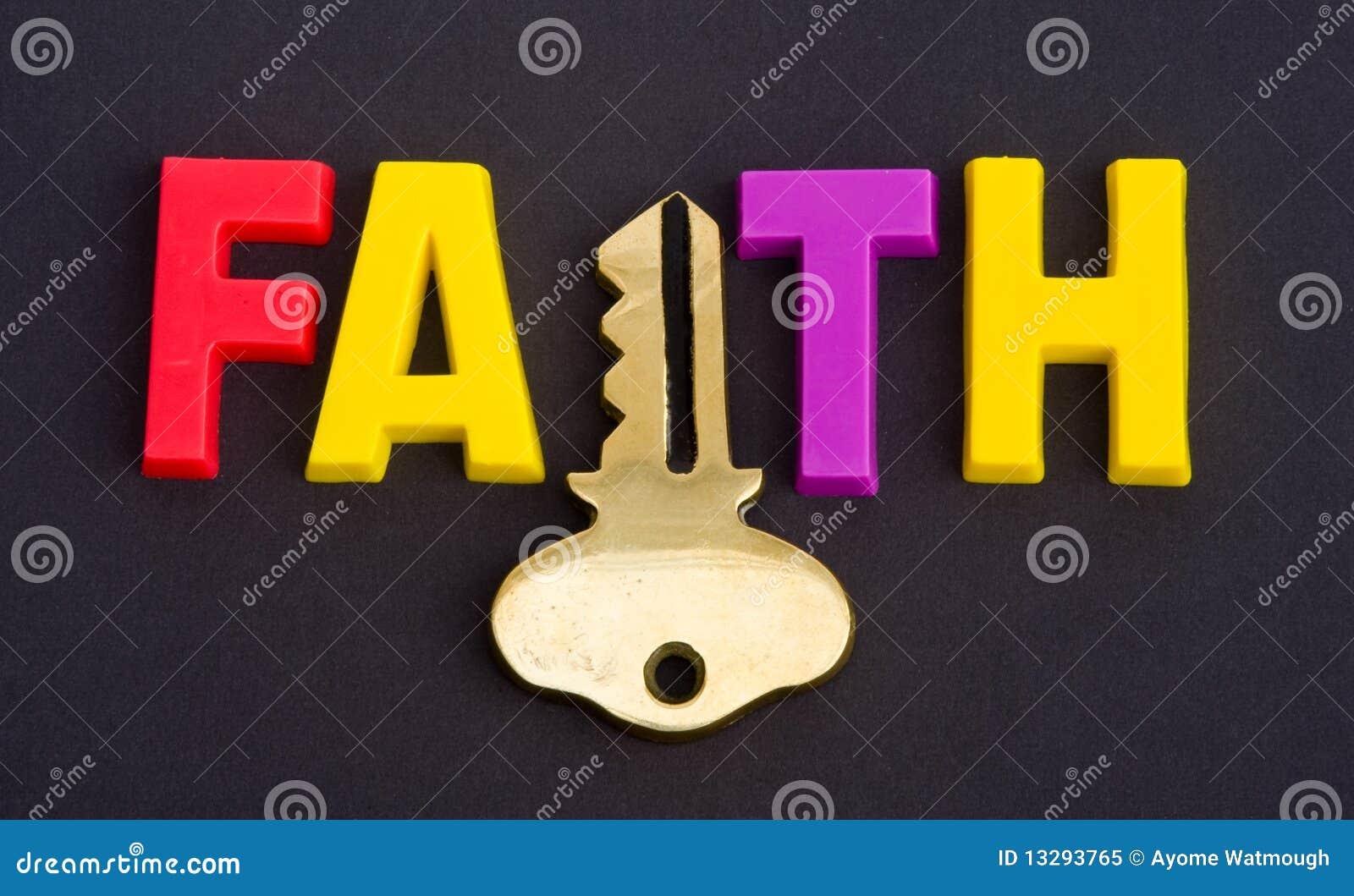 Het geloof houdt de sleutel.