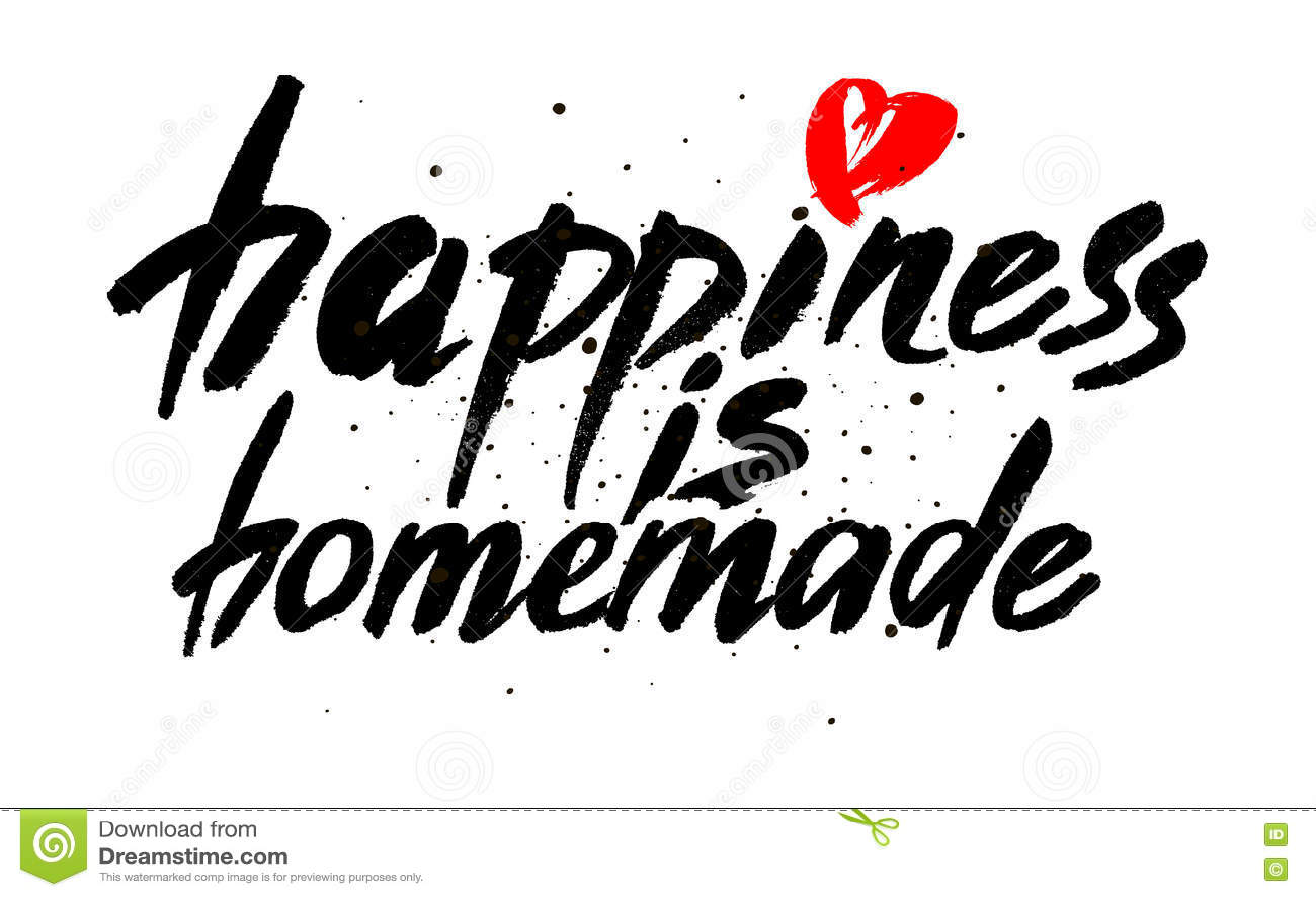 Het geluk is eigengemaakt Inspirational citaat over het leven, huis, verhouding Moderne kalligrafieuitdrukking Het vector van let