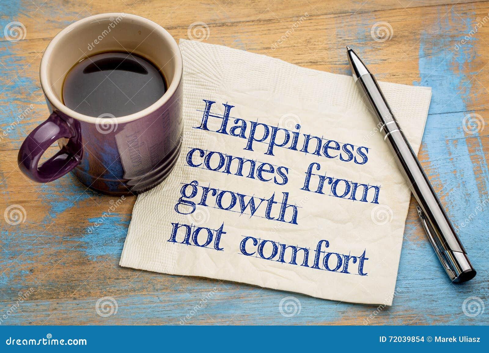 Het geluk komt uit de groei