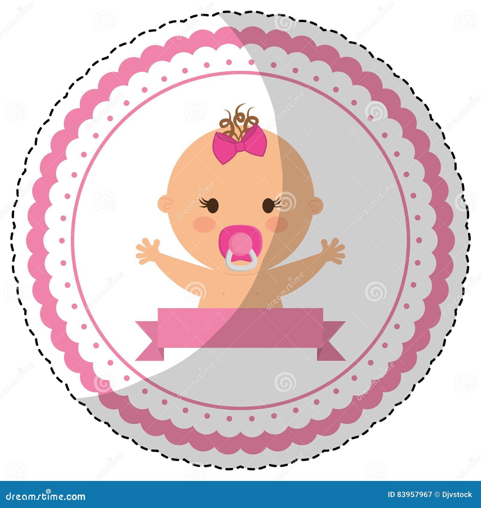 Het gelukkige beeld van het babypictogram vector illustratie afbeelding 83957967 - Beeld het meisje van ...