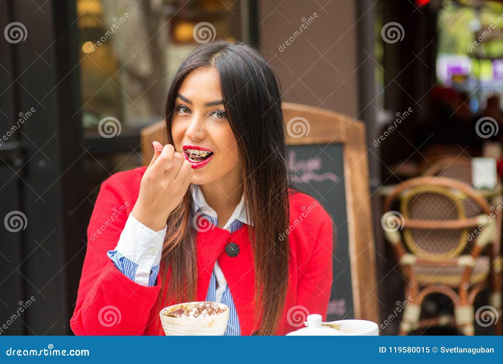 Het gelukkige Eten van de Vrouw