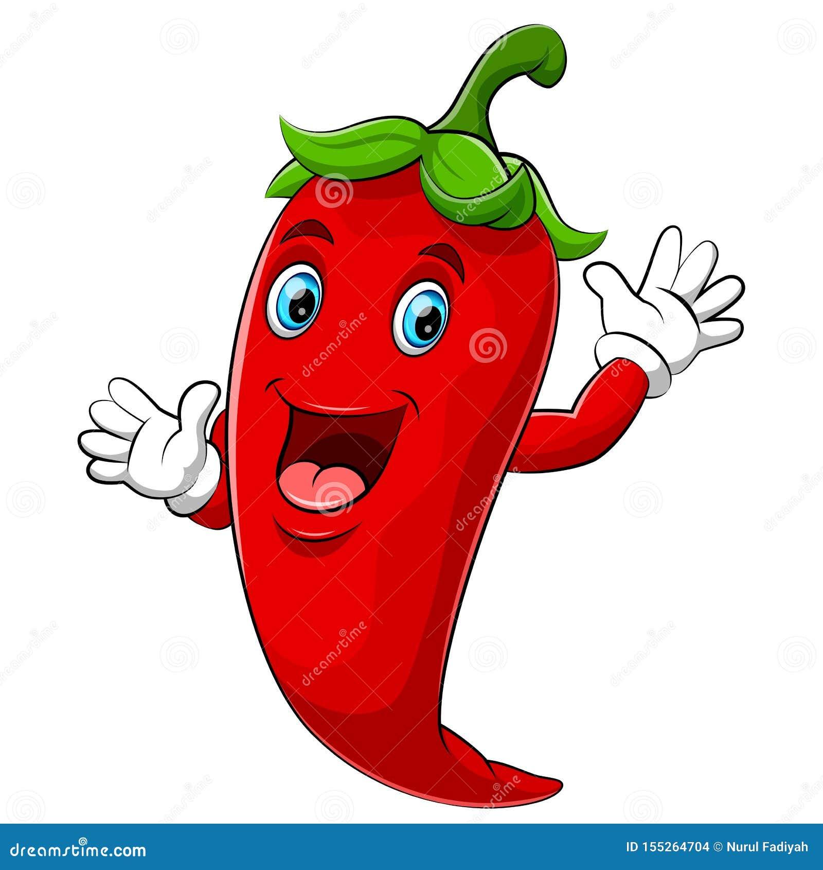 Het gelukkige karakter van het Spaanse peperbeeldverhaal