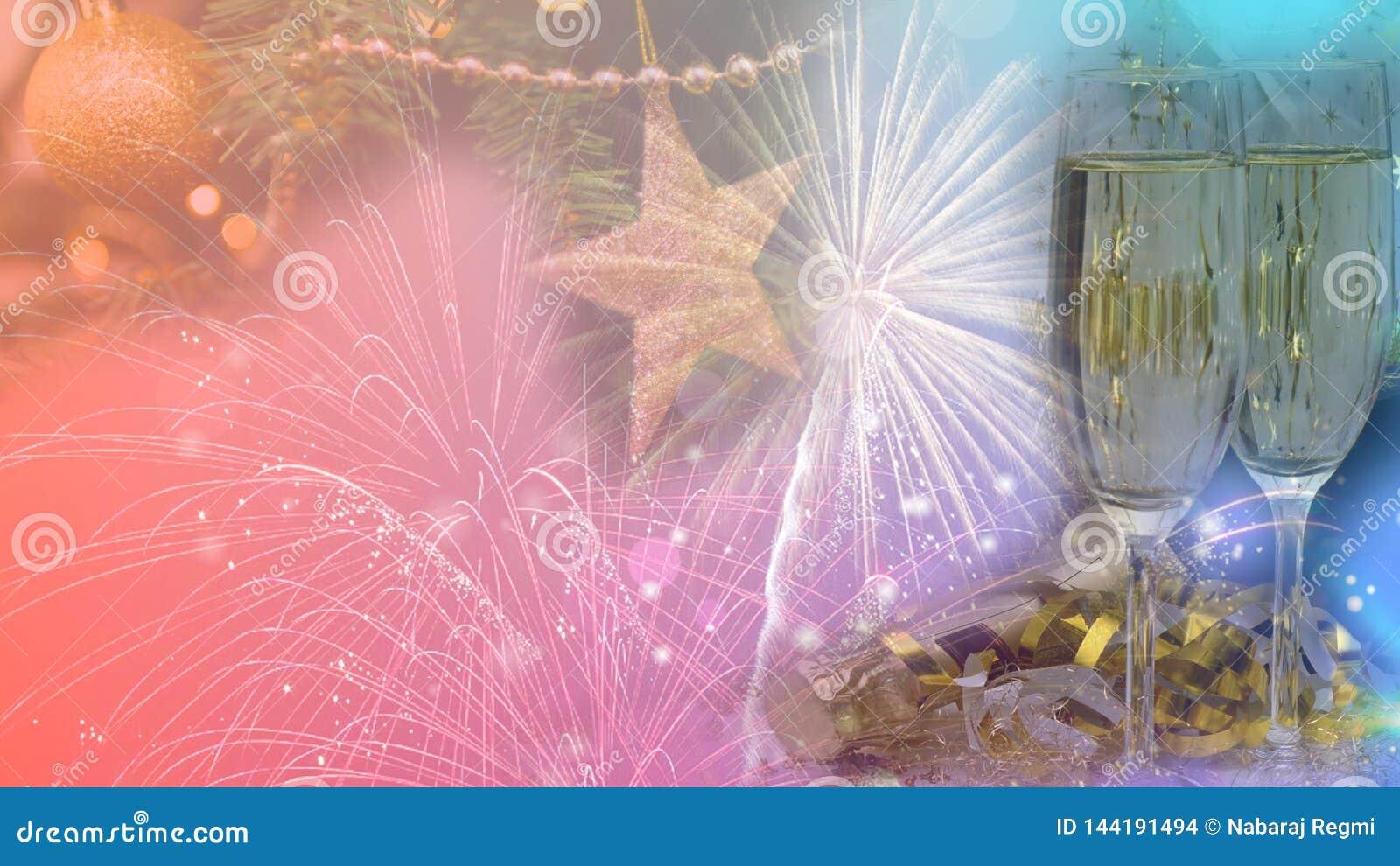 Het gelukkige Nieuwjaar & Kerstmis 2020 Ontwerp van de Vieringsaffiche