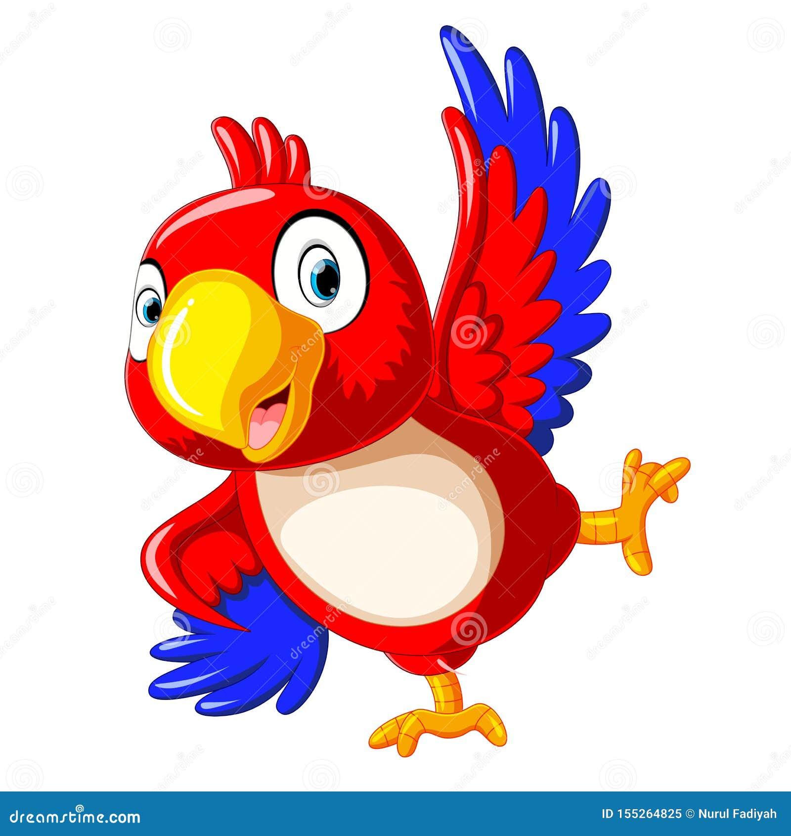 Het gelukkige papegaaibeeldverhaal dansen