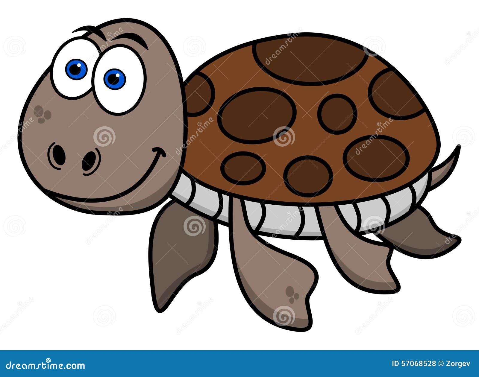 Het gelukkige schildpad zwemmen